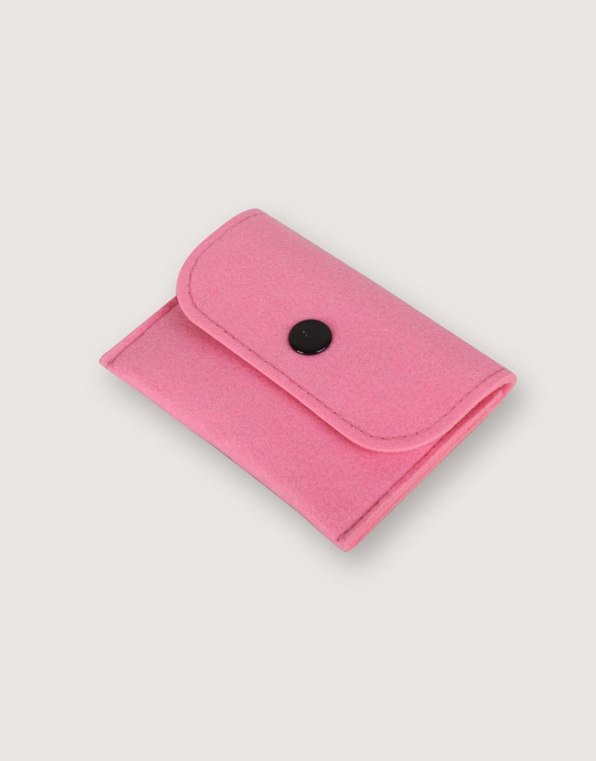羊毛氈零錢袋   長方形   粉色