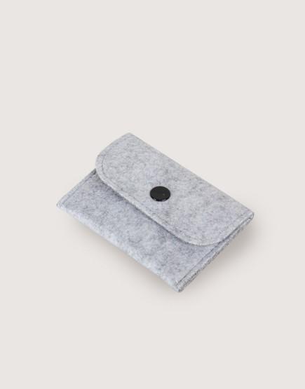 羊毛氈零錢袋 | 長方形 | 灰色
