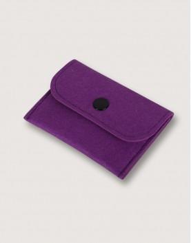 羊毛氈零錢袋   長方形   紫色