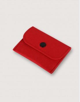 羊毛氈零錢袋 | 長方形 | 紅色