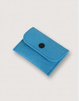 羊毛氈零錢袋 | 長方形 | 藍色