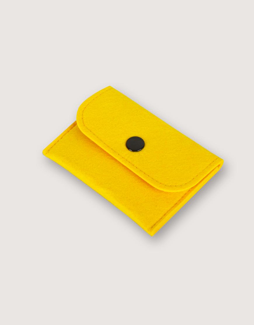 羊毛氈零錢袋 | 長方形 | 黃色