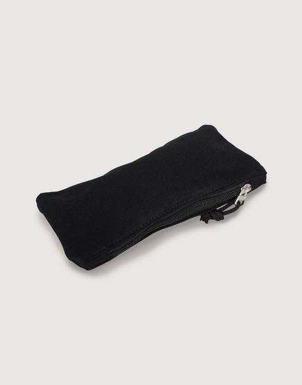 帆布拉鍊收納袋 | 拉鍊筆袋 | 黑色