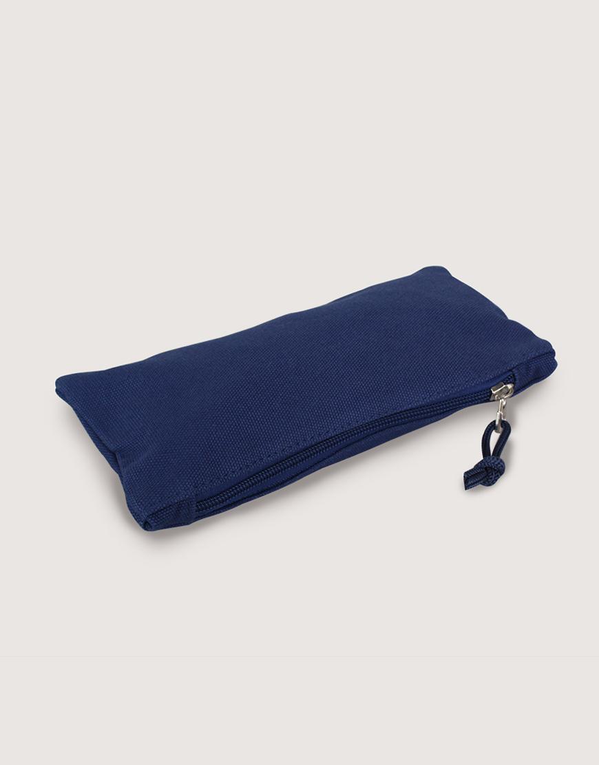 帆布拉鍊收納袋 | 拉鍊筆袋 | 深藍色