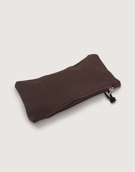 帆布拉鍊收納袋 | 拉鍊筆袋 | 咖啡色