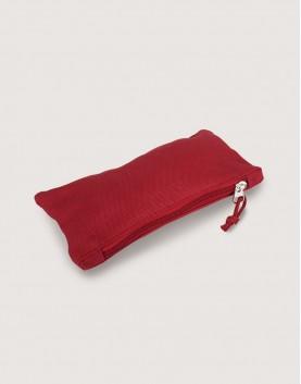 帆布拉鍊收納袋   拉鍊筆袋   紅色