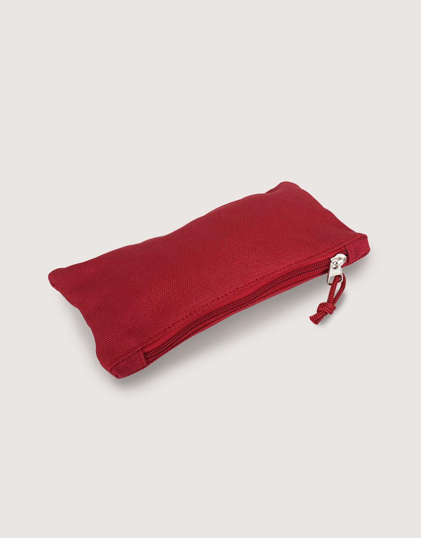 帆布拉鍊收納袋 | 拉鍊筆袋 | 紅色