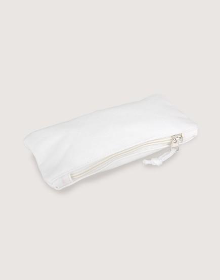 帆布拉鍊收納袋 | 拉鍊筆袋 | 白色