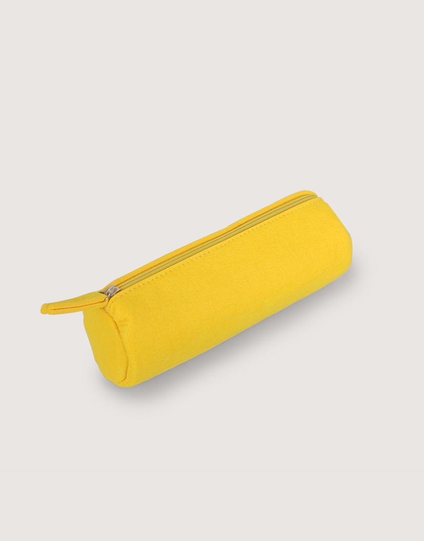 羊毛氈筆袋 | 黃色