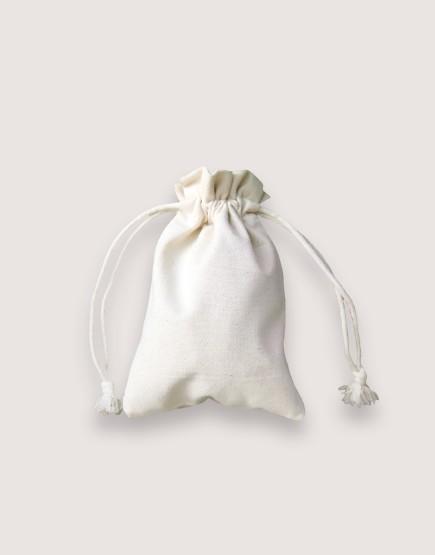 束口收納袋 中帆布 小尺寸 荷葉邊