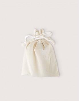 束口棉布收納袋│棉布荷葉邊