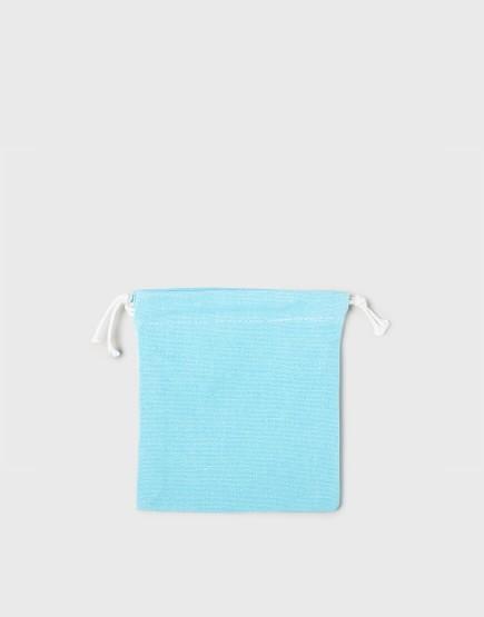 多色小號束口帆布收納袋│淺藍綠色│包裝袋│禮物袋│可印圖