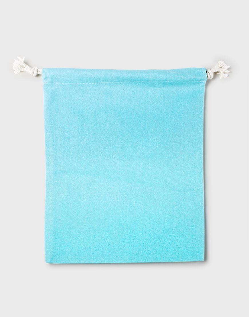 多色大號束口帆布收納袋│淺藍綠色│包裝袋│禮物袋│可印圖
