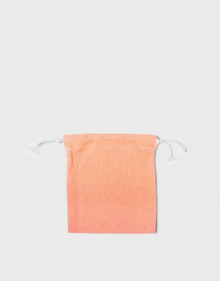 多色小號束口帆布收納袋│橘色│包裝袋│禮物袋│可印圖
