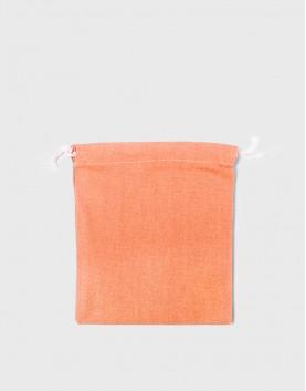 多色中號束口帆布收納袋│橘色│包裝袋│禮物袋│可印圖