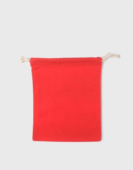 多色中號束口帆布收納袋│紅色│包裝袋│禮物袋│可印圖