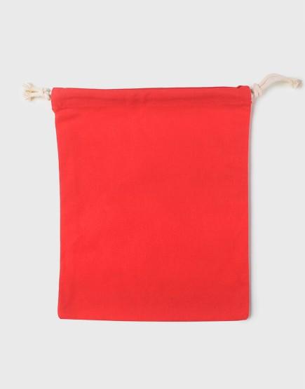 多色大號束口帆布收納袋│紅色│包裝袋│禮物袋│可印圖