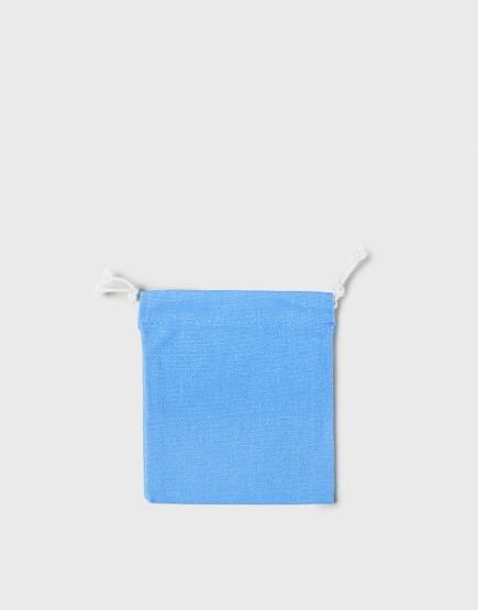 多色小號束口帆布收納袋│淺藍色│包裝袋│禮物袋│可印圖