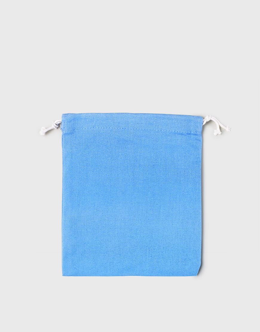 多色中號束口帆布收納袋│淺藍色│包裝袋│禮物袋│可印圖