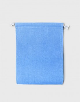 多色大號束口帆布收納袋│淺藍色│包裝袋│禮物袋│可印圖