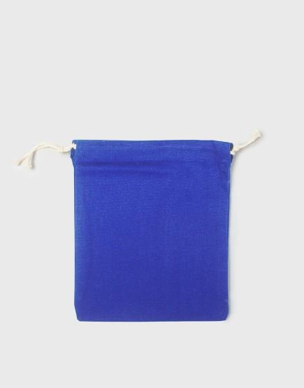 多色中號束口帆布收納袋│深藍色│包裝袋│禮物袋│可印圖