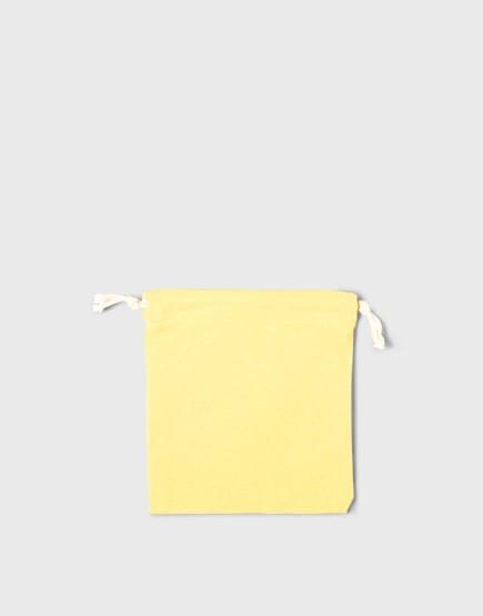 多色小號束口帆布收納袋│黃色│包裝袋│禮物袋│可印圖