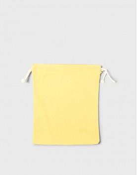 多色中號束口帆布收納袋│黃色│包裝袋│禮物袋│可印圖