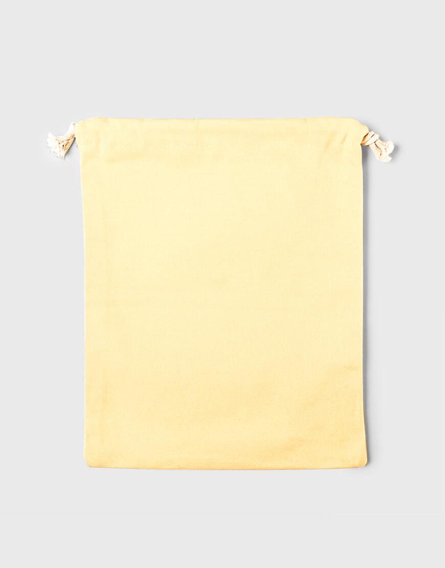 多色大號束口帆布收納袋│黃色│包裝袋│禮物袋│可印圖