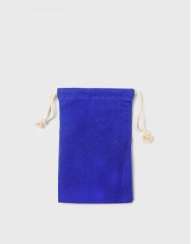 厚帆布束口收納袋 - 藍色   16X24cm  