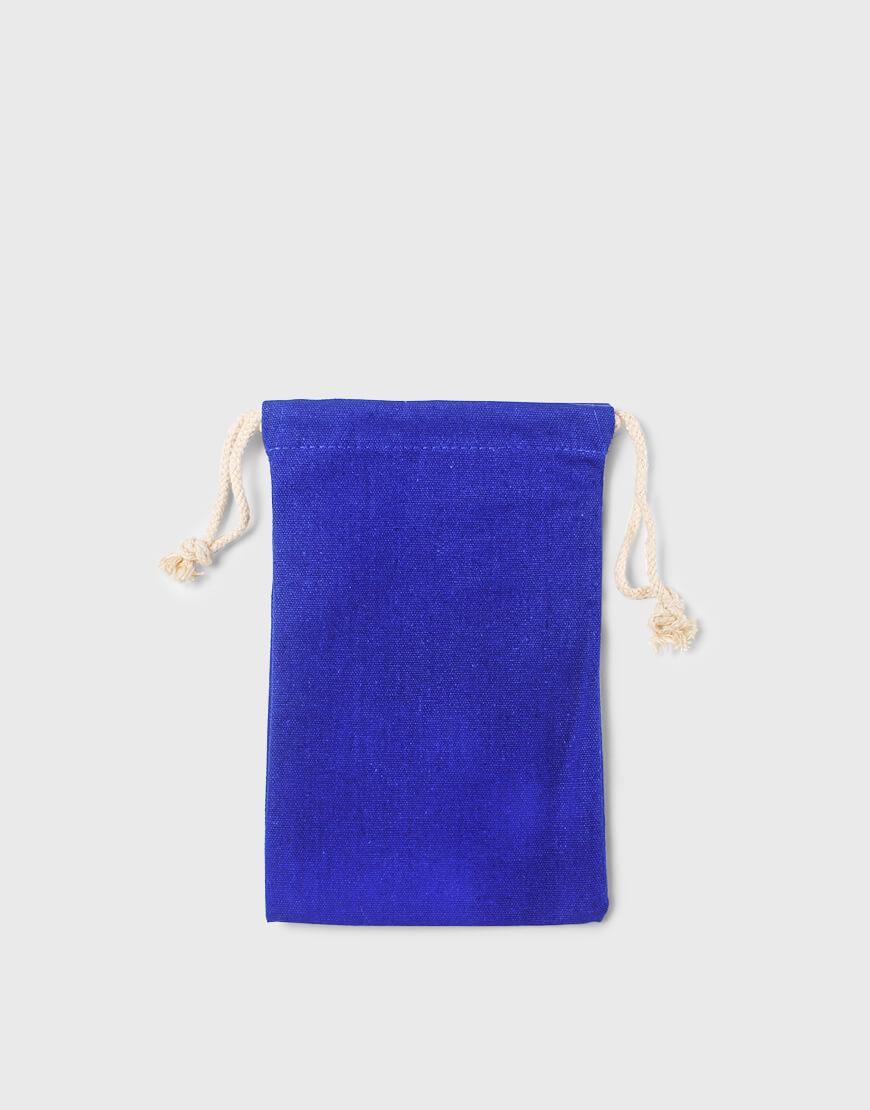藍色束口帆布收納袋│禮物包裝袋│16X24cm 五折出清款