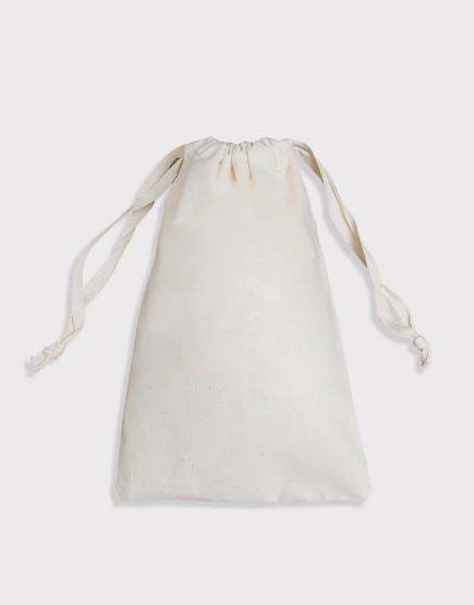棉布長型束口袋│扁平繩│包裝袋│禮物袋│可印圖