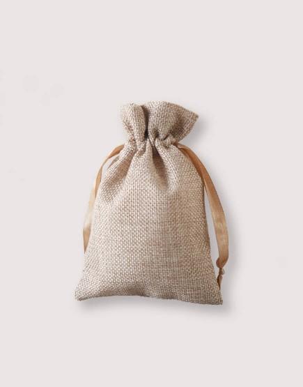 仿亞麻小號束口袋│多色│包裝袋│禮物袋