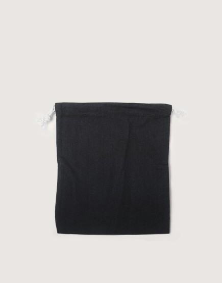 棉麻中號束口收納袋│黑色│包裝袋│禮物袋│可印圖