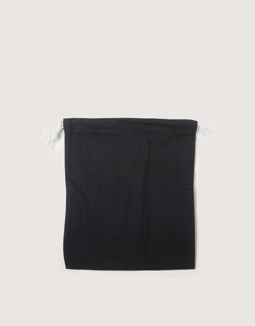 棉麻中號束口收納袋│黑色│包裝袋│禮物袋
