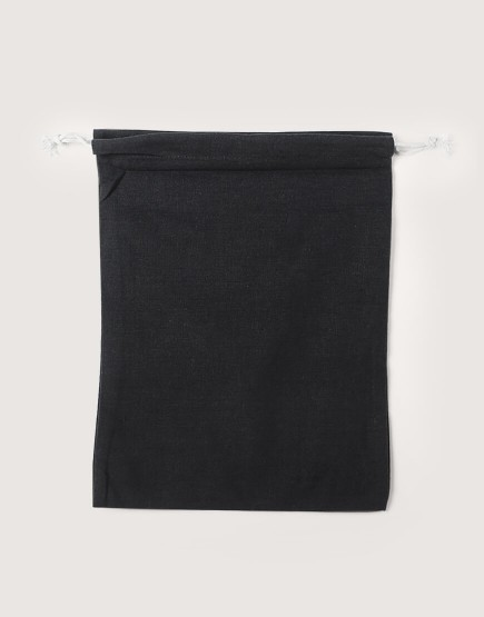 棉麻大號束口收納袋│黑色│包裝袋│禮物袋