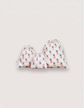 鳳梨束口袋│大尺寸│束口包裝袋│禮物袋│收納袋