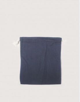 棉麻中號束口收納袋│灰色│包裝袋│禮物袋│可印圖