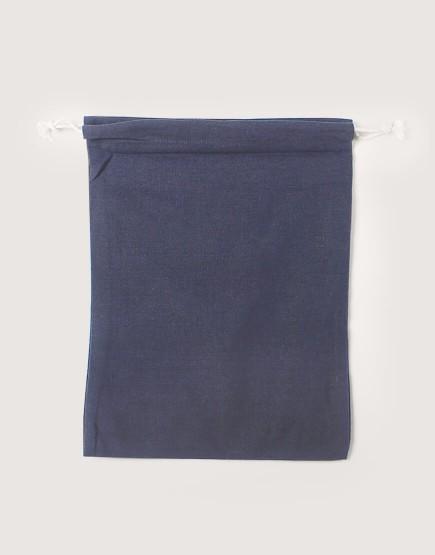 棉麻大號束口收納袋│灰色│包裝袋│禮物袋│可印圖