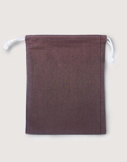 棉麻大號束口收納袋│咖啡色│包裝袋│禮物袋│可印圖