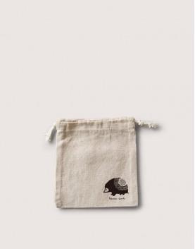 束口棉麻布收納袋│刺蝟束口袋
