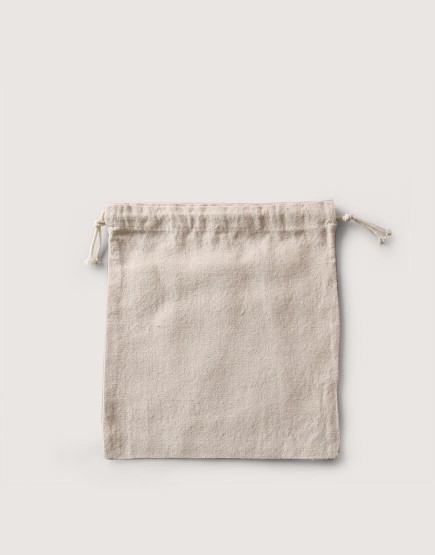 束口棉麻布收納袋│中尺寸| 包裝袋 | 禮物袋 | 可印圖