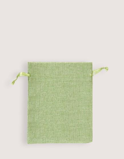 仿亞麻中號束口袋│綠色│包裝袋│禮物袋
