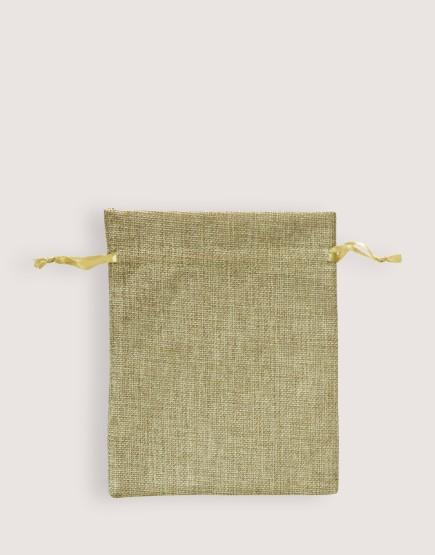 仿亞麻中號束口袋│淺咖啡色│包裝袋│禮物袋