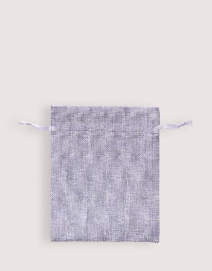 仿亞麻中號束口袋│紫色│包裝袋│禮物袋