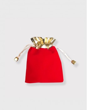金口紅色絨布束口袋│包裝袋│禮物袋