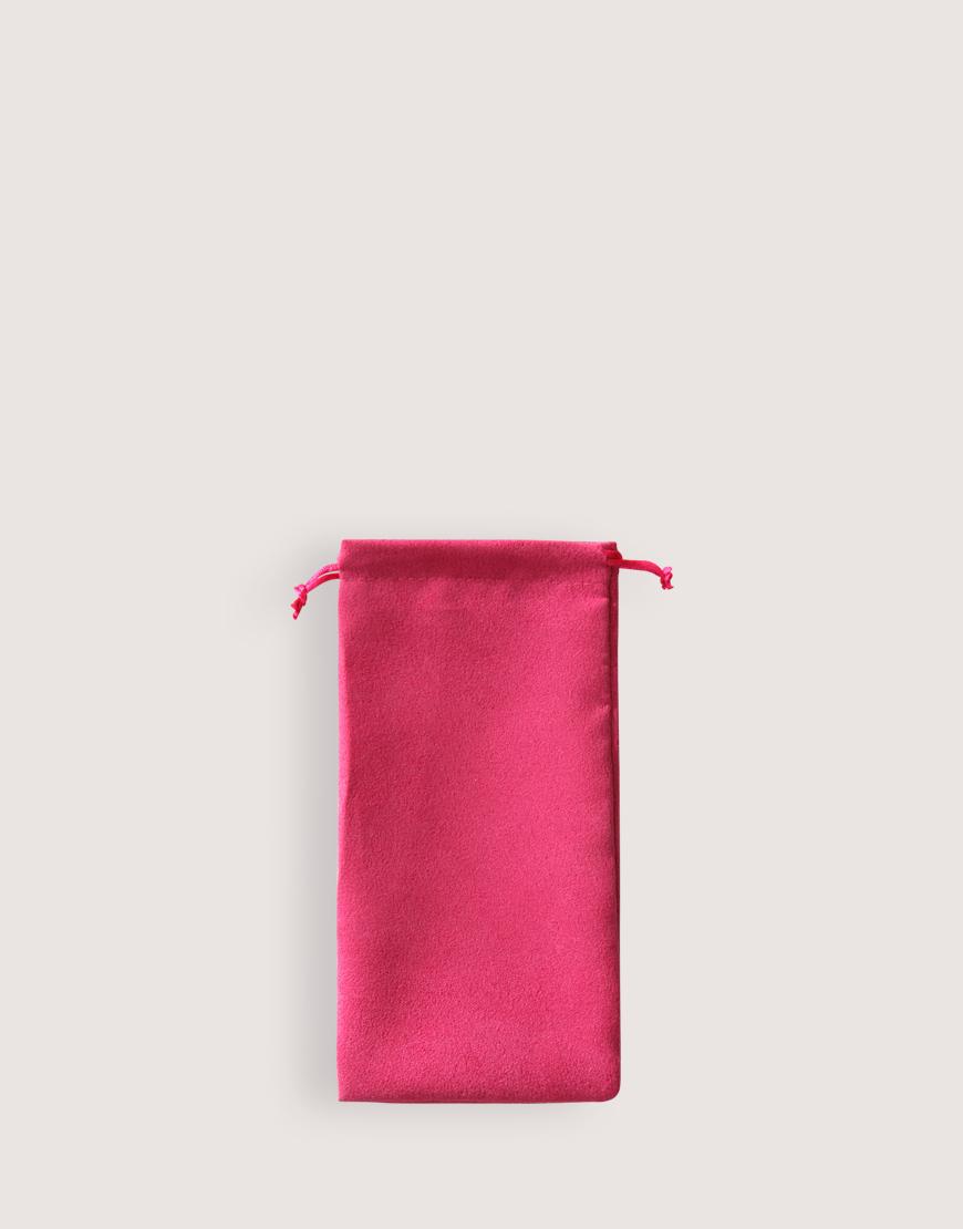 仿麂皮絨布束口袋│桃紅色│包裝袋│禮物袋
