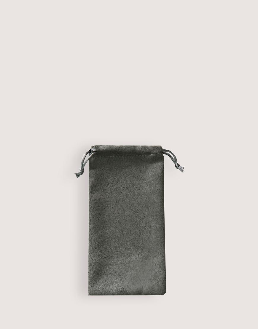 仿麂皮絨布束口袋│灰色│包裝袋│禮物袋
