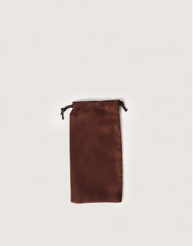 仿麂皮絨布束口袋│咖啡色│包裝袋│禮物袋