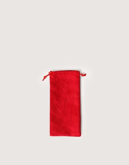 仿麂皮絨布束口袋│紅色│包裝袋│禮物袋