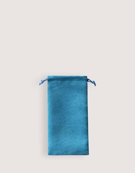 仿麂皮絨布束口袋│天藍色│包裝袋│禮物袋